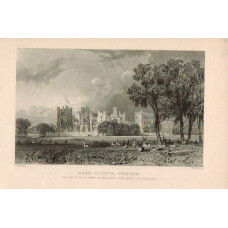 View of  the Country House, Raby Castle the Seat of the Duke of Cleveland after T. Allom by W Le Petit.
