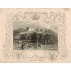 """""""Park Place Henley"""" with decorative border, after W. Tombleson, by A.H. Payne."""