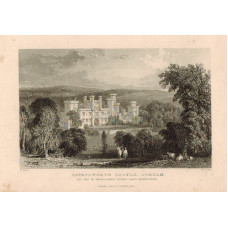 View of  the Country House, Ravensworth Castle, Seat of Baron Ravensworth, after T. Allom by W. Le Petit.