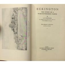 Eckington The Story of A Worcestershire Parish.