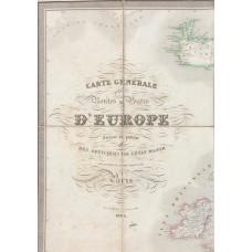 Carte Generale de toutes les Routes de l'Europe, dresse et publiee par des Officiers de l'Etat Major de l'ancienne Armee Polonaise. Engraved by Arnoul, Lale & Dien.