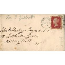 AUTOGRAPH LETTER Signed, to John Ballantyne, 2pp, Vanbrugh Park, Blackheath, 23 Dec 1877,